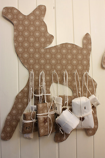 Diy Reindeer Advent Calendar