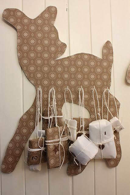 DIY Reindeer Advent Calendar
