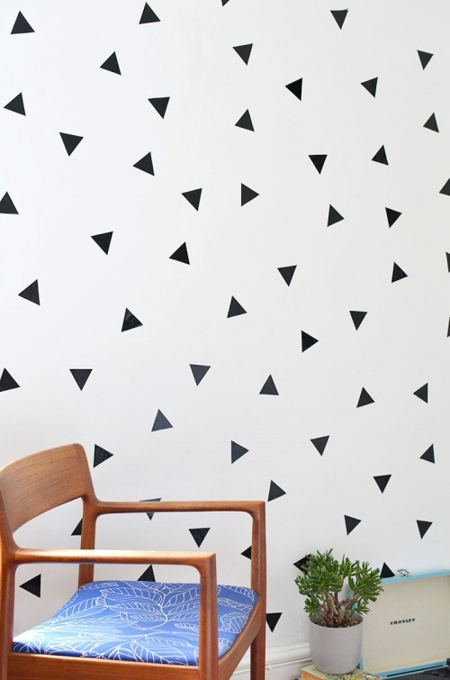 Fresh DIY Removable Triangle Wall Decals For Trendy Decor