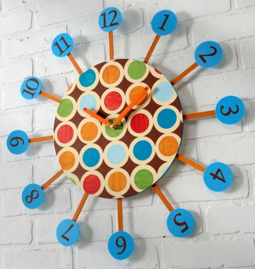 Diy Retro Star Burst Wall Clock