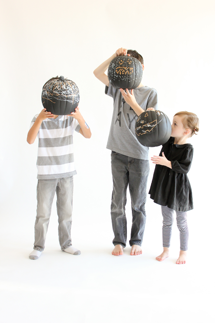 Picture Of diy reusable chalkboard pumpkins for your kids  4