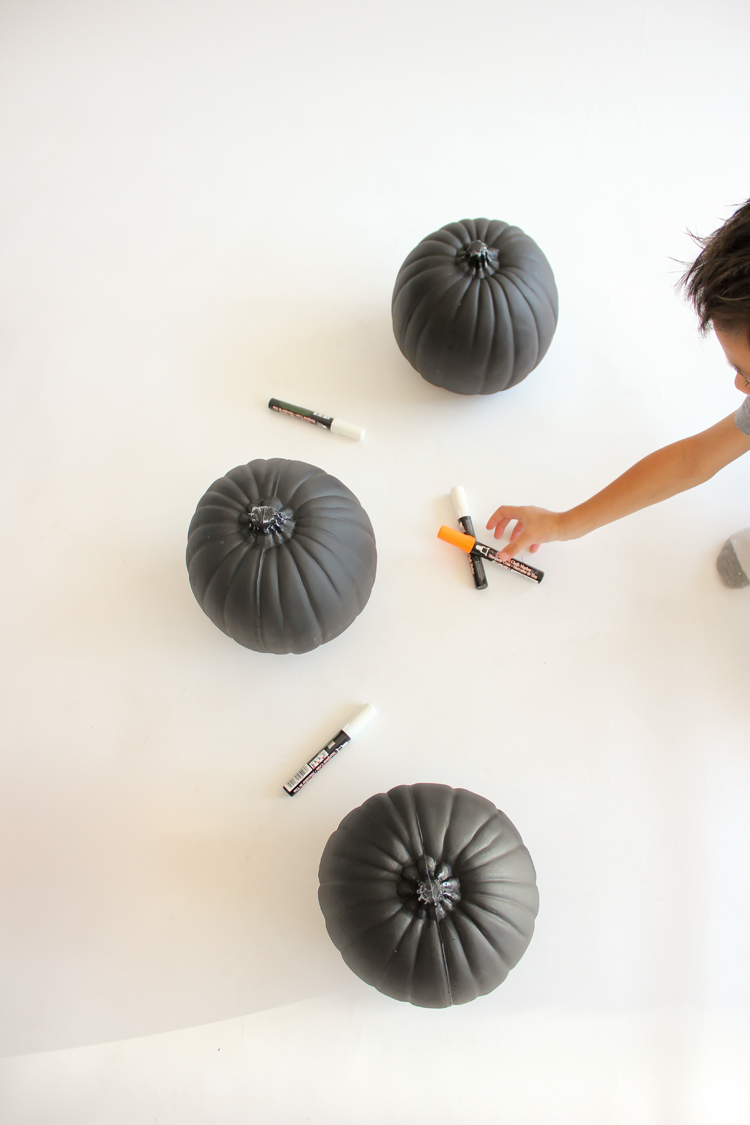 Picture Of diy reusable chalkboard pumpkins for your kids  5