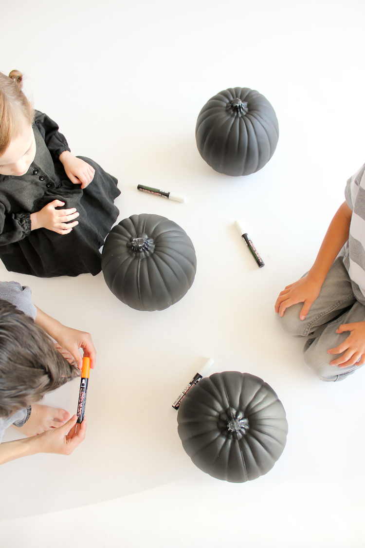 Picture Of diy reusable chalkboard pumpkins for your kids  6