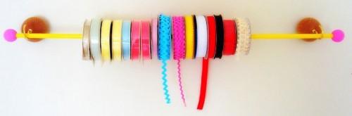 DIY Ribbon Floating Wall Rack