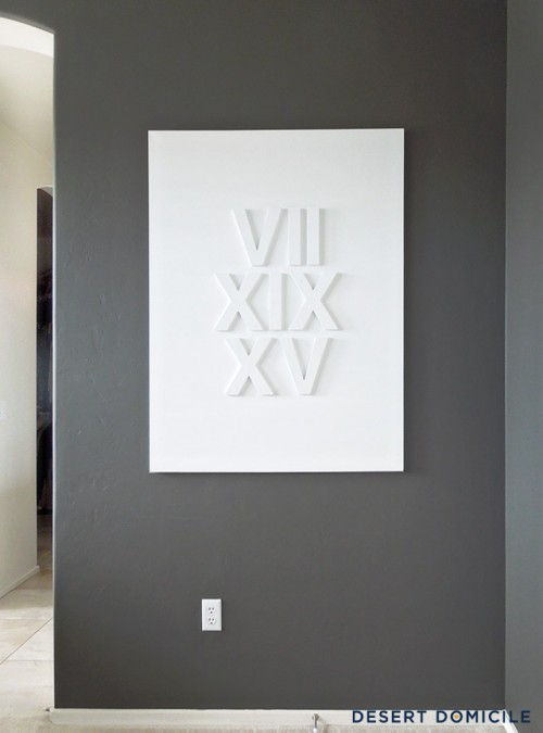 DIY Roman Numeral Wedding Date Art