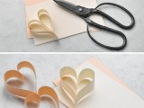 Diy Romantic Heart Paper Garland