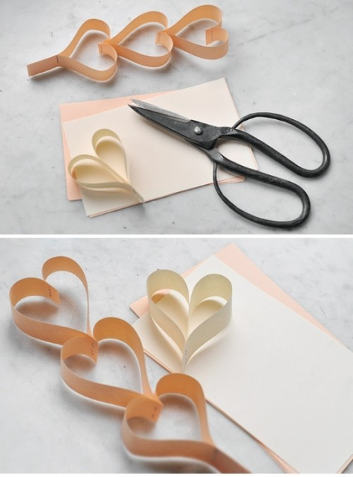 Diy Romantic Heart Paper Garland
