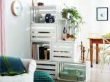 crate shelves for room dividing