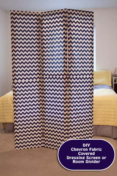 chevron space dividing screen (via momitforward)