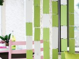 colorful hanging room divider