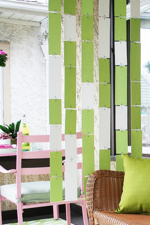 Colorful Hanging Room Divider Via Makingitlovely