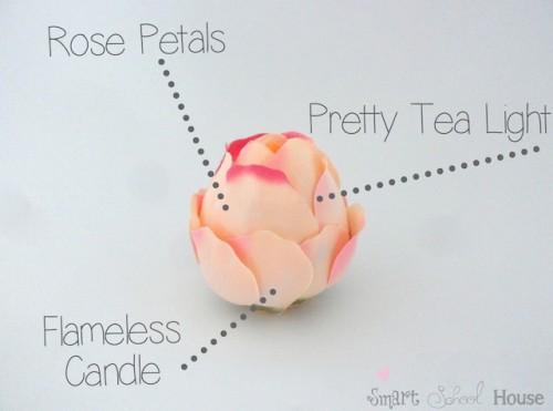Diy Rose Tea Lights For Spring Nights
