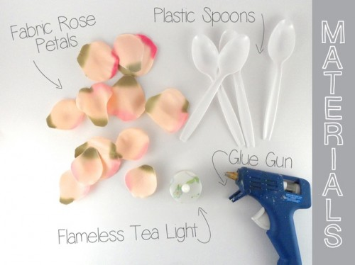 Diy Rose Tea Lights For Spring Nights