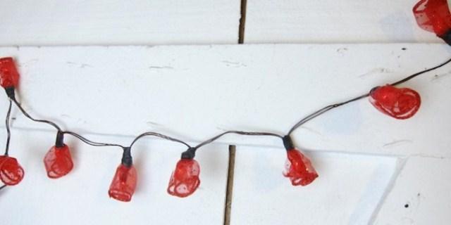 Diy Rosebud Fairy Lights For Parties
