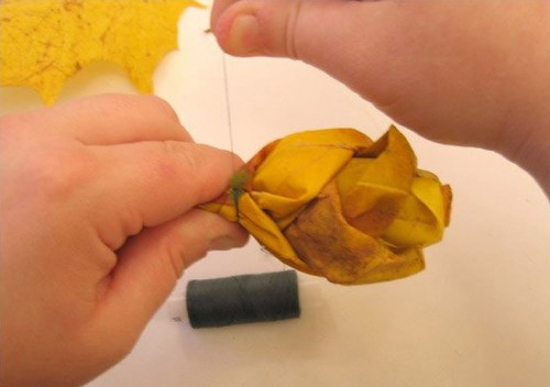 Diy Roses From Maple Leaves