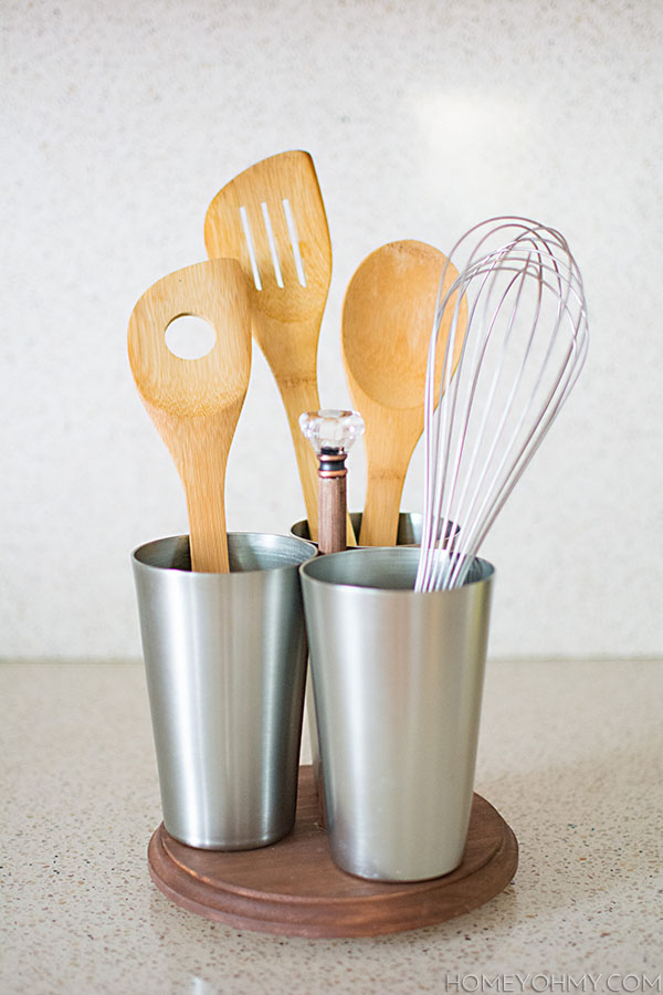 Diy Rotating Kitchen Utensil Caddy