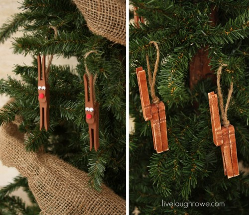 DIY Rudolph Reindeer Christmas Tree Ornament