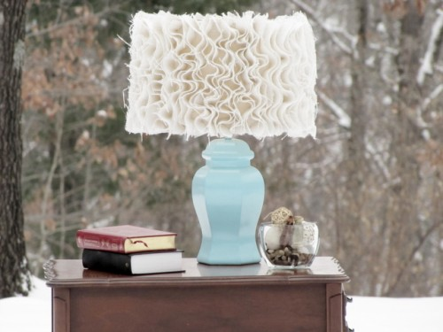 How To Make A Chic Ruffled Lamp Shade For A Tabletop Lamp