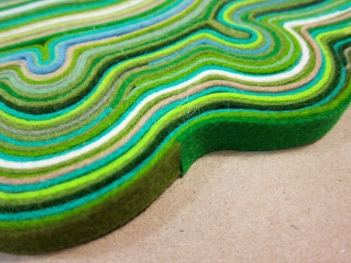 Diy Rug Made Of Felt Scraps