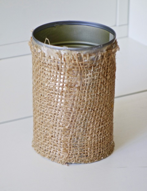 Diy Rustic Burlap Pencil Holder