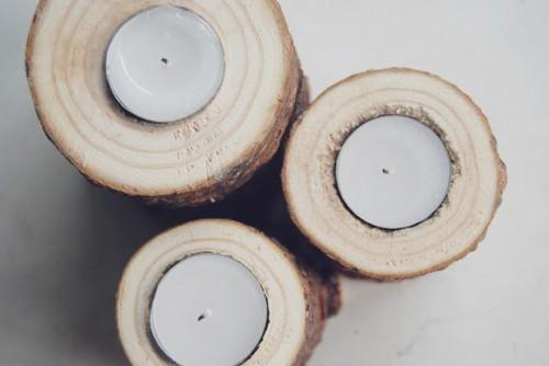 pine branch candleholders (via thepinkdoormat)