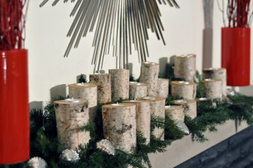 birch log candleholders via lifeovereasy - Birch Christmas Decorations