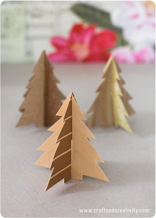 wood veneer trees (via craftandcreativity)