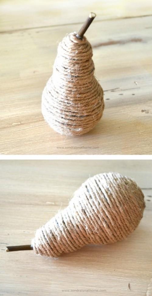 Diy Rustic Decor Making A Twine Pear