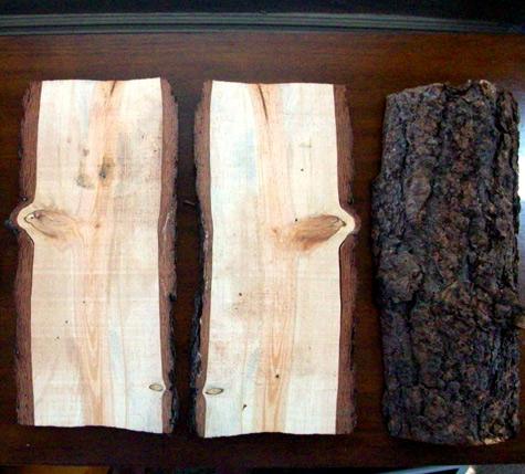 Diy Rustic Log Shelves