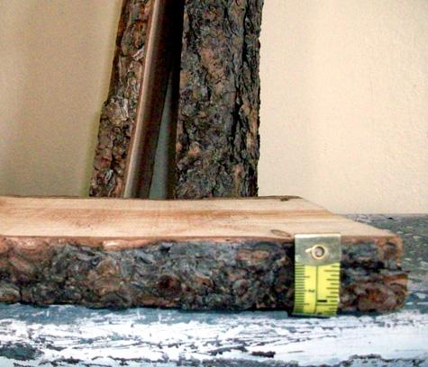Diy Rustic Log Shelves Shelterness