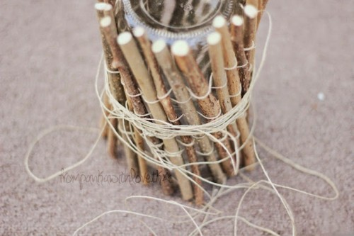 Diy Rustic Vase And Candleholder