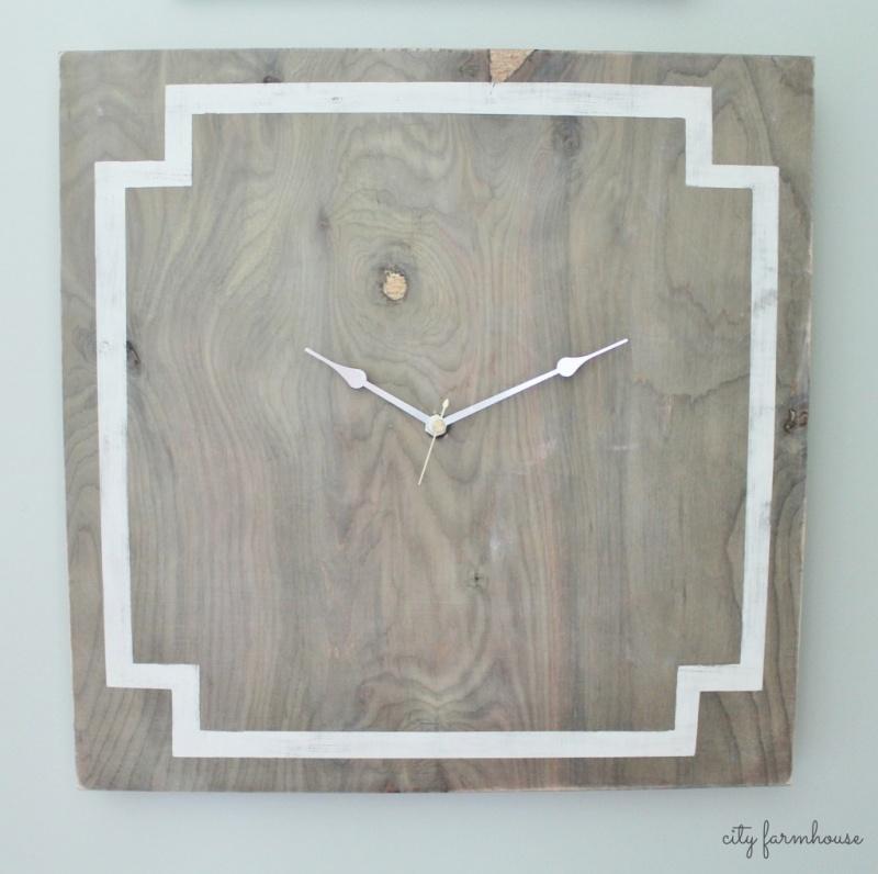 Greek key inspired wall clock