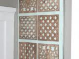 decorative rustic wooden tiles