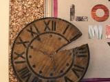 rustic pottery barn clock