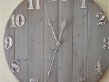rustic wall clock on a budget