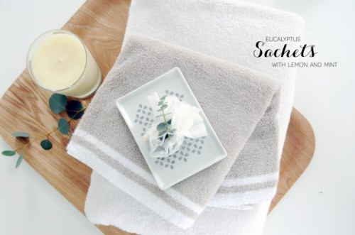 eucalyptus bath sachet (via earnesthomeco)