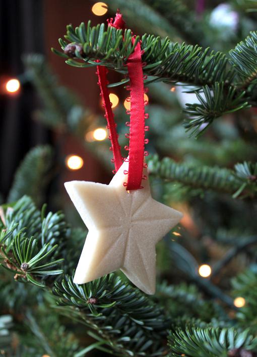 simple salt dough star ornaments