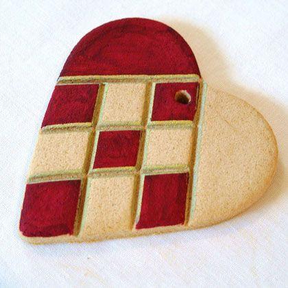 salt dough heart ornaments (via spoonful)