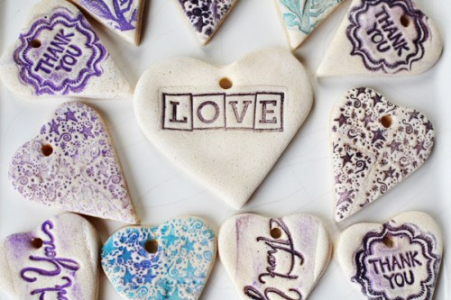 beautiful Christmas salt dough ornaments (via intimateweddings)