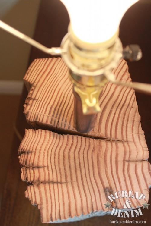 Diy Salvaged Wood Tabletop Lamp