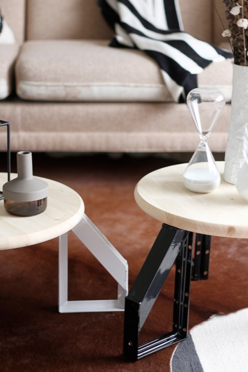 DIY Scandi Inspired Low Profile Round Table