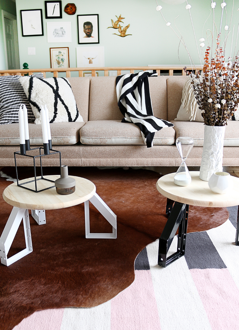 Picture Of diy scandi inspired low profile round table  3
