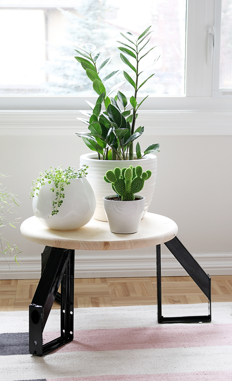 Picture Of diy scandi inspired low profile round table  4