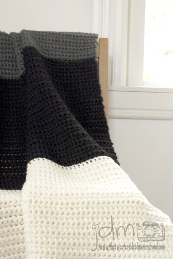 Scandi crocheted blanket
