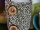 knitted Scandi cup cozy