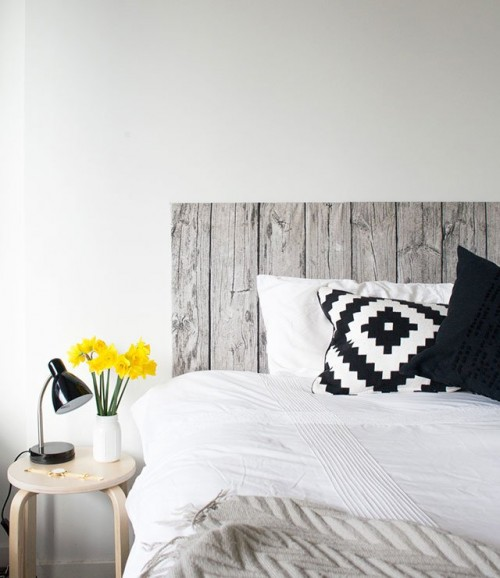 wood fabric headboard (via crafthunter)