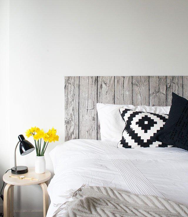 wood fabric headboard