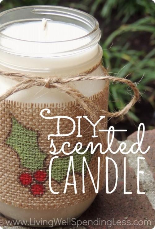 scented cinnamon candle (via livingwellspendingless)