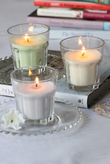 scented soy candles (via shelterness)