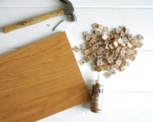 Diy Scrabble Art For Kitchen